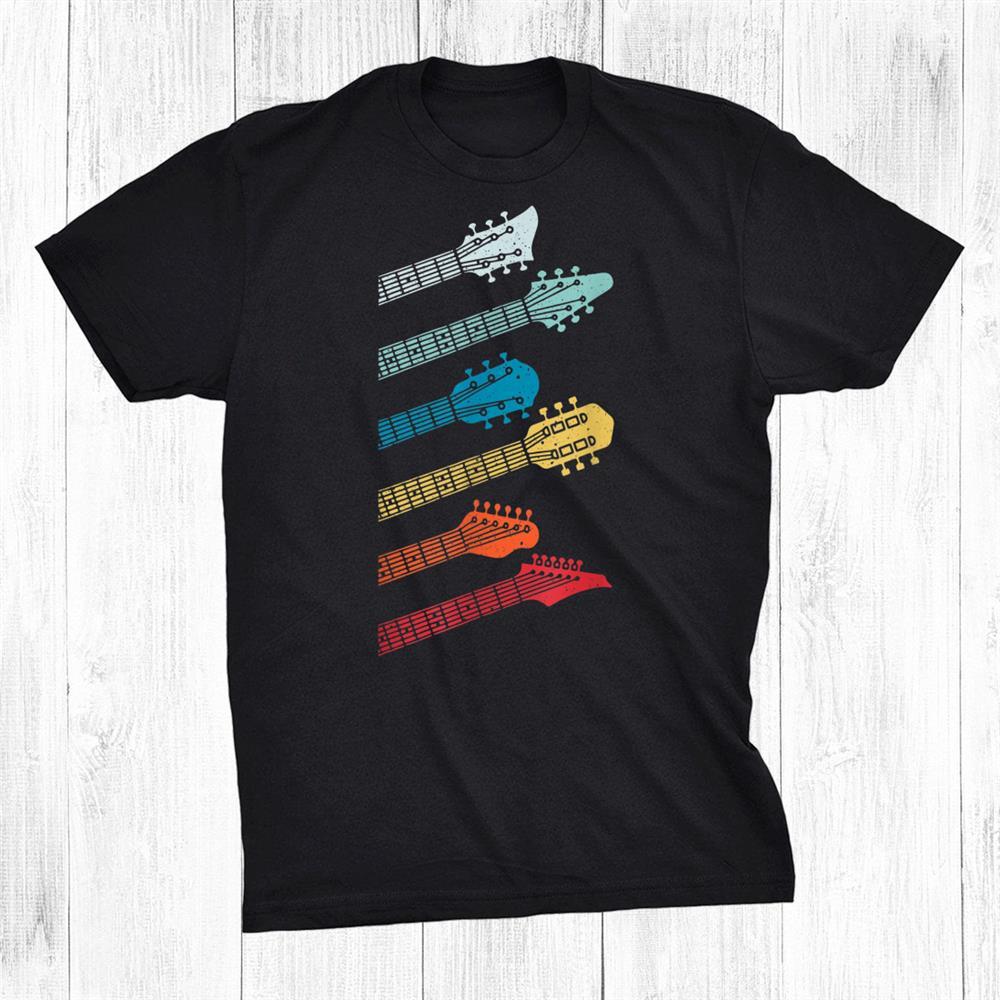 Guitar Gift For Music Band Guitarist Stuff Vintage Shirt