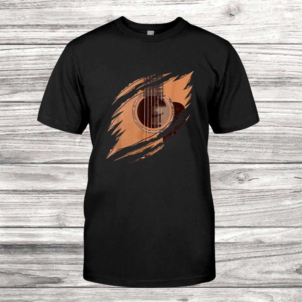 Guitar In Me Tear Cool Guitarist Music Musician Shirt
