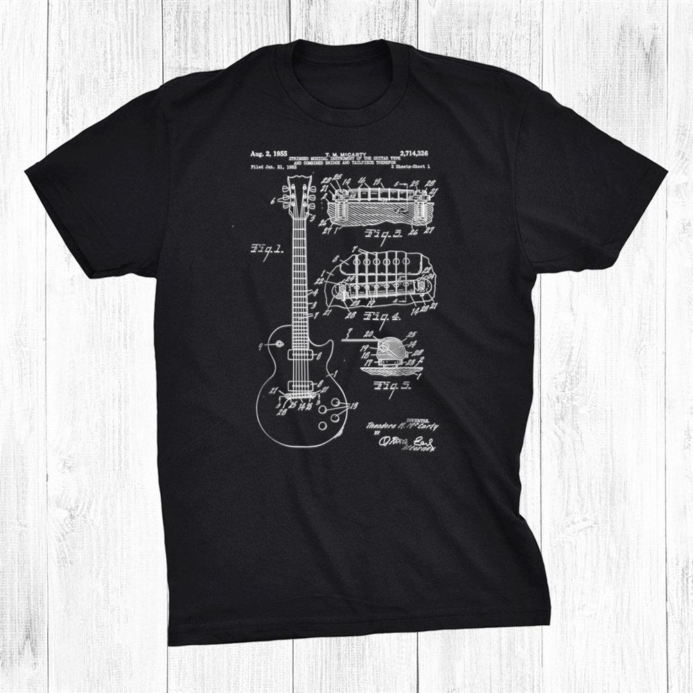 Guitar Patent Print955 Vintage Patent Print Art Shirt