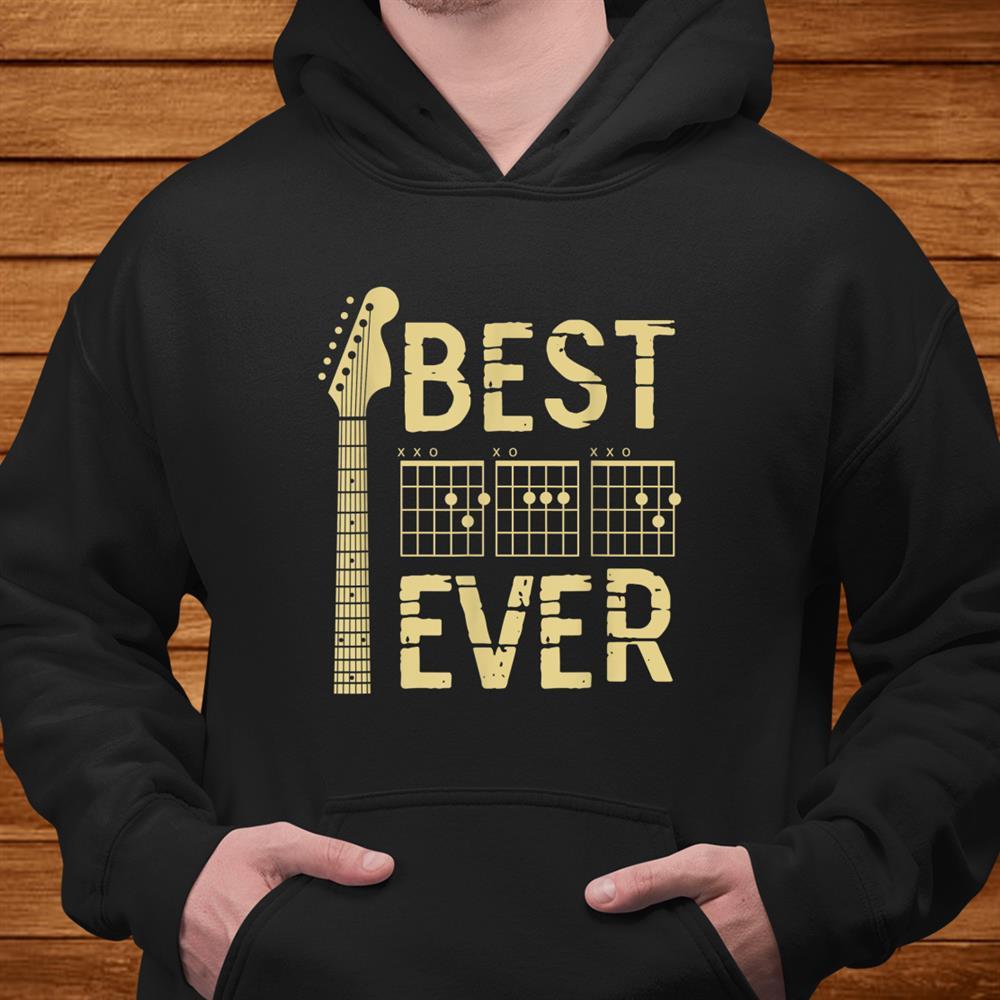 Guitarist Father Best Dad Ever D A D Chord Gifts Guitar Shirt