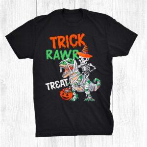 Halloween021 Skeleton Riding Dinosaur Funny Shirt