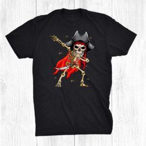 Halloween Costume Dabbing Pirate Funny Skeleton Shirt