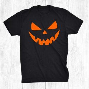 Halloween Costume Jack O Lantern Pumpkin Face Shirt