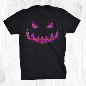 Halloween Cute Pumpkin Pattern Jack O Lantern Halloween Shirt