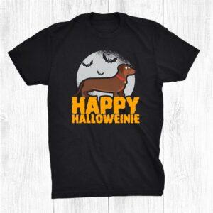 Halloween Dachshund Humor Happy Halloweinie Shirt