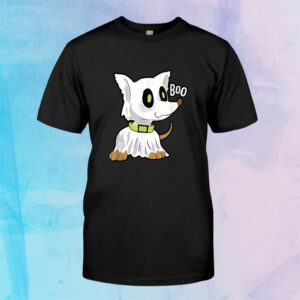 Halloween Dog In Ghost Costume Dog In Ghost Costume Shirt
