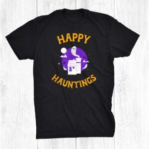 Halloween Happy Hauntings Haunted House Shirt