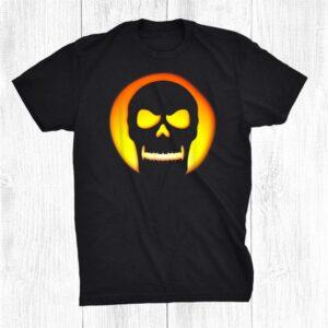 Halloween Jack O Lantern Pumpkin Skull Costume Shirt