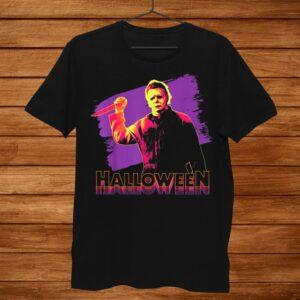 Halloween Michael Myers Neon Portrait Shirt