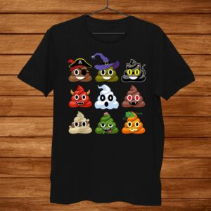Halloween Poop Emojis Funny Shirt