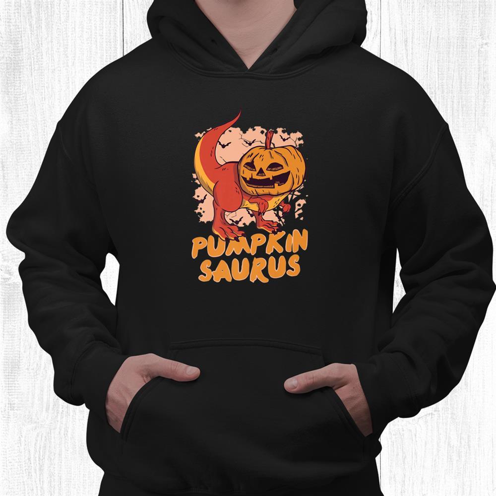 Halloween Pumpkinsaurus Creepy Pumpkin Dinosaur Graphics Shirt