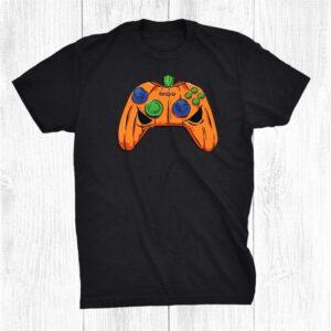 Halloween Video Games Pumpkin Gamepad Gamers Costume Shirt