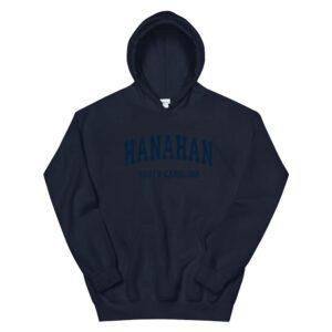 hanahan south carolina sc vintage varsity sports navy hoodie 2