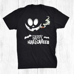 Happy Hallo Weed Marijuana Pothead Smoker Halloween Costume Shirt
