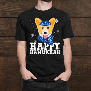 Happy Hanukkah Corgi Dog Holiday Funny Shirt