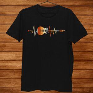 Heartbeat Guitar Shirt Guitarist Shirt