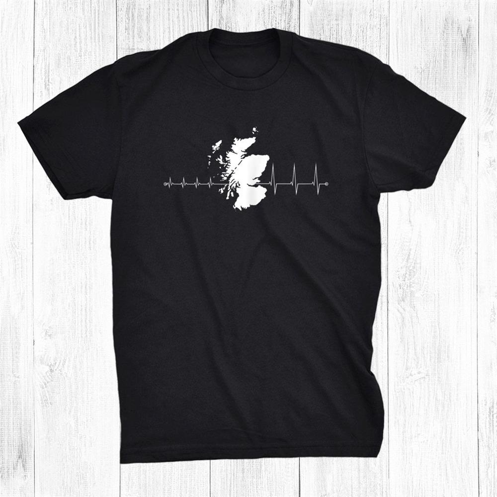 Heartbeat Of A Scotland Fan Shirt