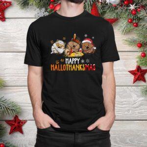 Hedgehogs Halloween And Merry Christmas Happy Hallothanksmas Shirt