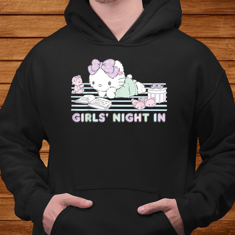 Hello Kitty Girls Night In Reading Shirt