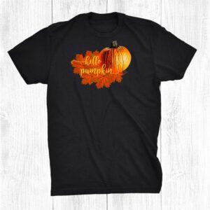 Hello Pumpkin Outfit Autumn Halloween Hello Pumpkin Shirt