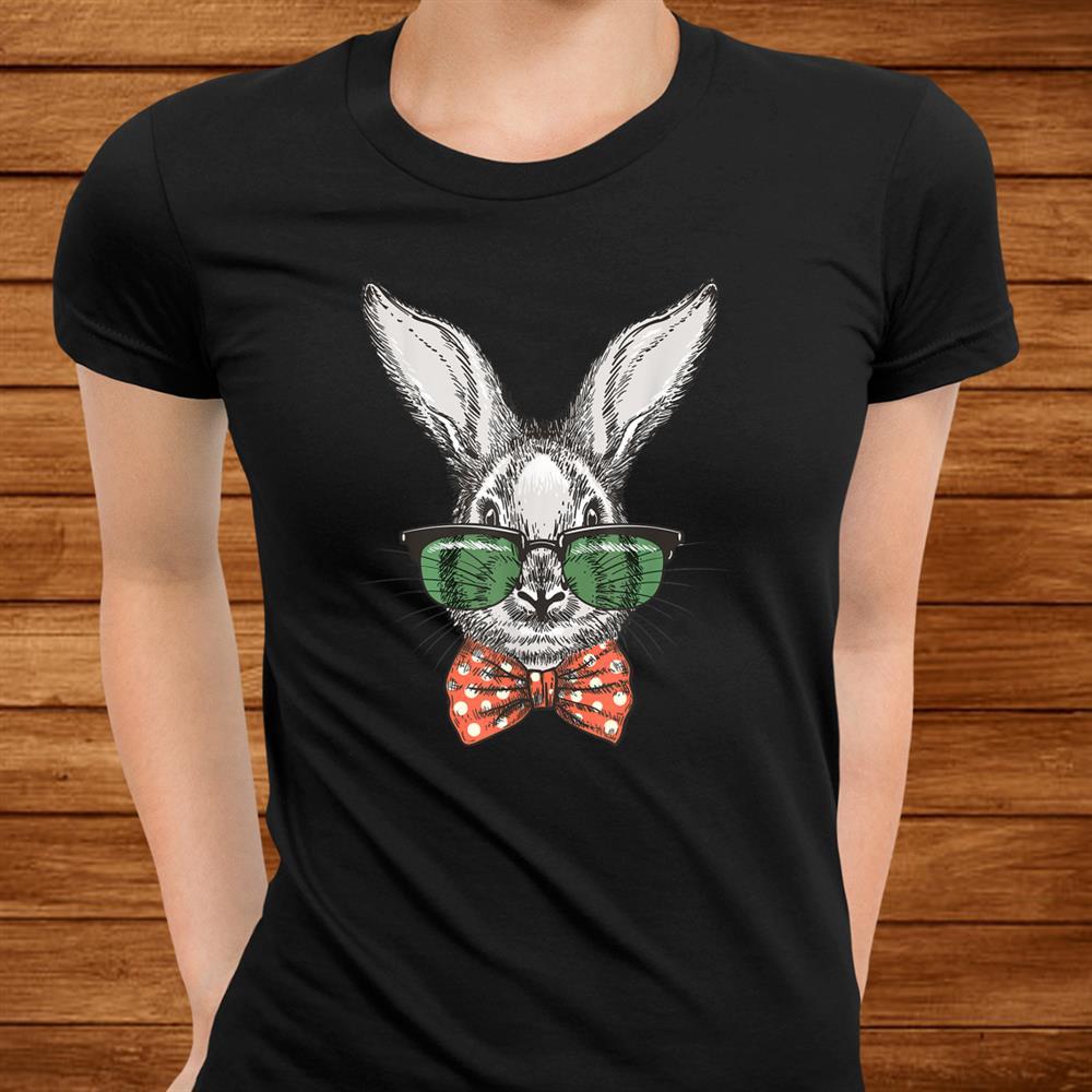 Hippie Bunny Face Sunglasses Easter Bunny Gift Boys Kids Shirt