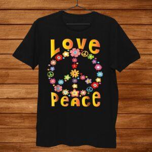 Hippie Love Peace Freedom Shirt 60s 70s Tie Dye Shirt