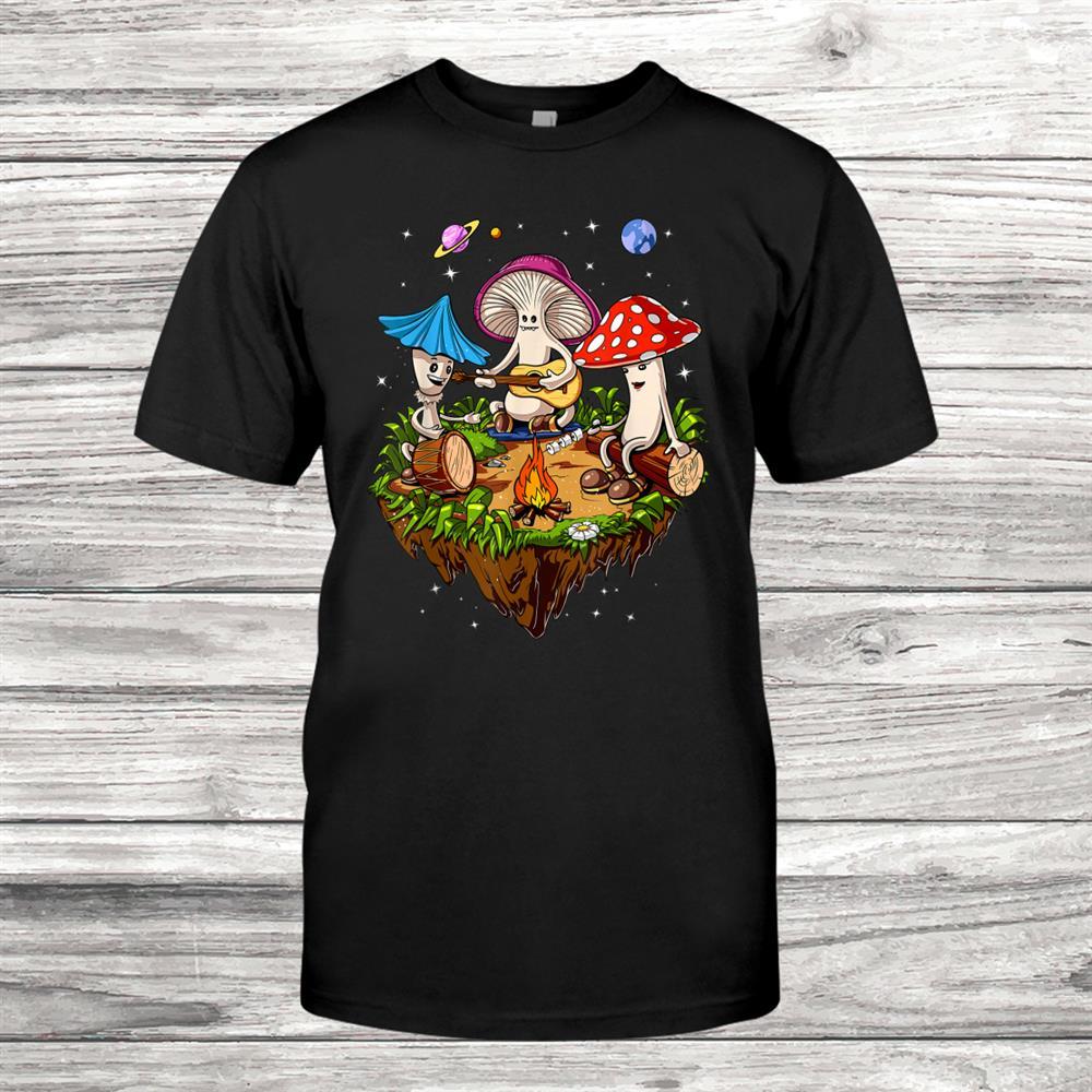 Hippie Magic Mushrooms Psychedelic Psilocybin Fungi Festival Shirt
