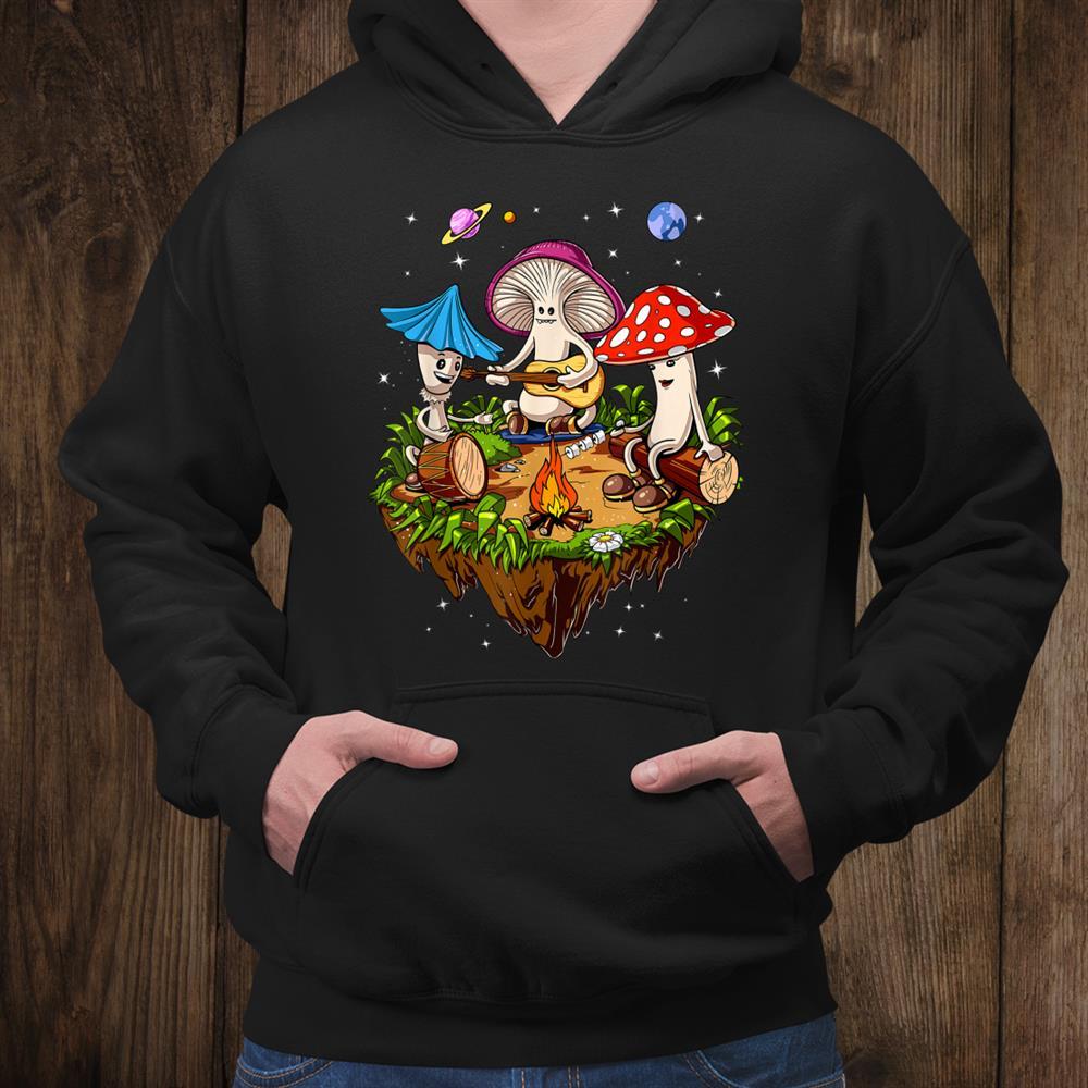 Hippie Magic Mushrooms Psychedelic Psilocybin Fungus Shrooms Shirt