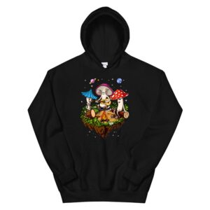 Hippie Mushrooms Camping Psychedelic Forest Fungi Festival Hoodie