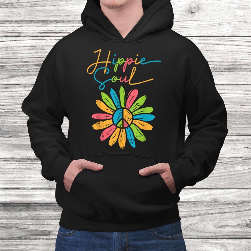 Hippie Soul Peace Flower Retro Floral Hippi Hippy Women Shirt