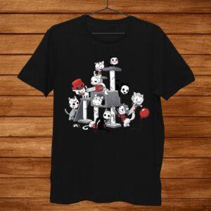 Horror Movies Cat Funny Halloween Shirt