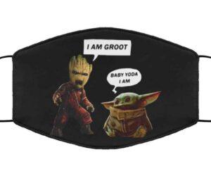 I Am Groot Baby Yoda Face Mask