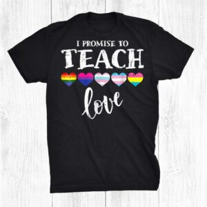 I Promise To Teachs Loves Lgbt Q Pride Prouds Allys Shirt