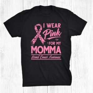 I Wear Pink For My Momma Breast Cancer Awareness Shirt