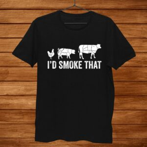 Id Smoke That Fun Bbq Smoker Chef Shirt