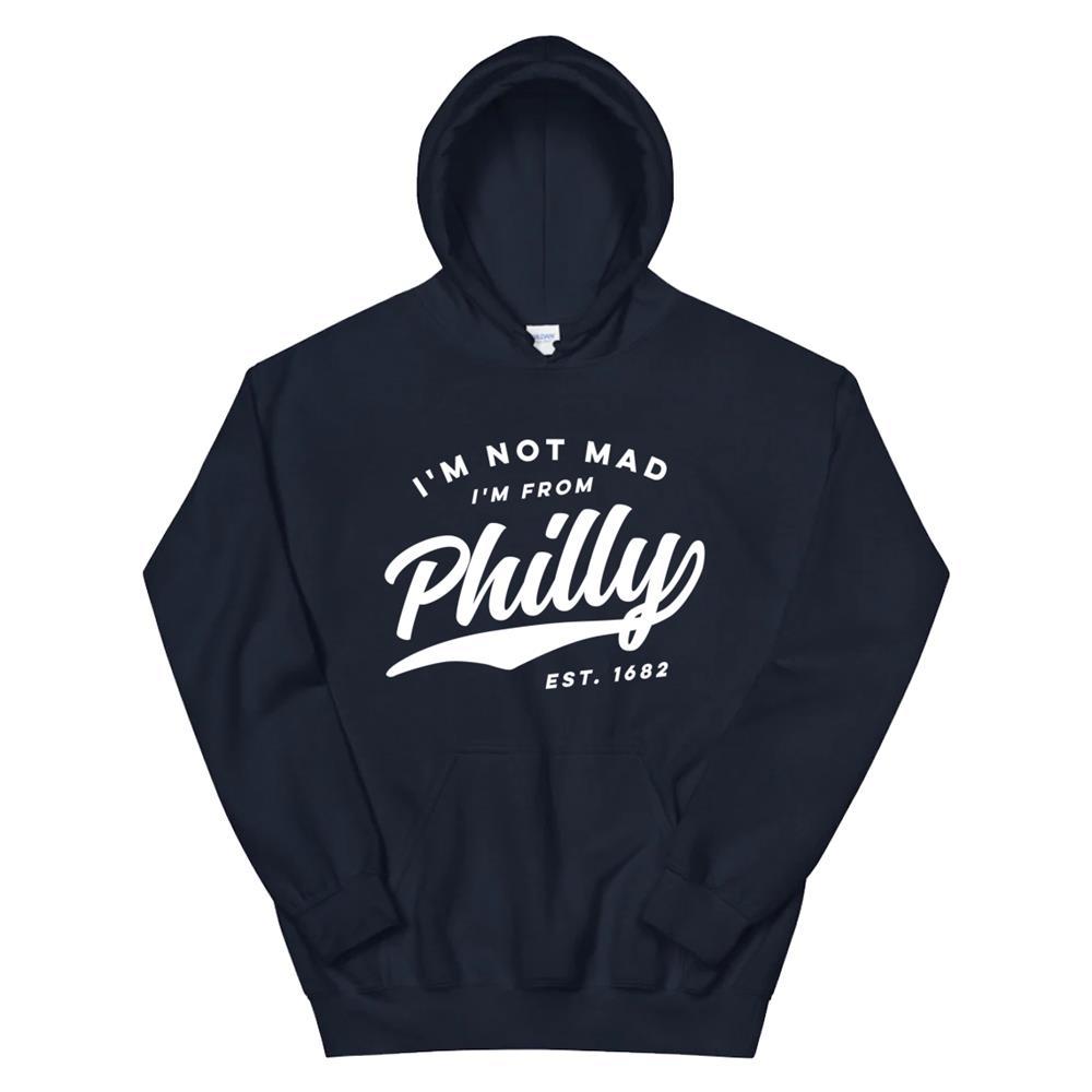 Im Not Mad Im From Philly Retro970s Philadelphia Dark Hoodie