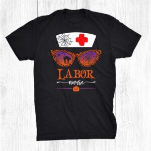 Jack O Lantern Leopard Pumpkin Nurse Halloween Sunglasses Shirt