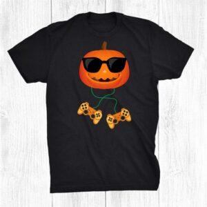 Jack O Lantern Pumpkin Gamer Halloween Costume Video Gaming Shirt