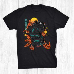 Japanese Dragon Kanji Asian Demon Sakura Vaporwave Grunge Shirt