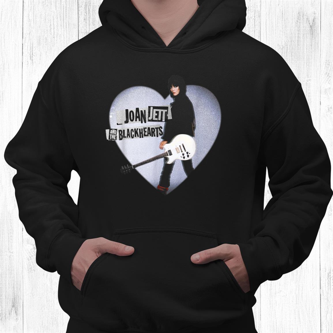 Joan Jett Official Heart Guitar Shirt
