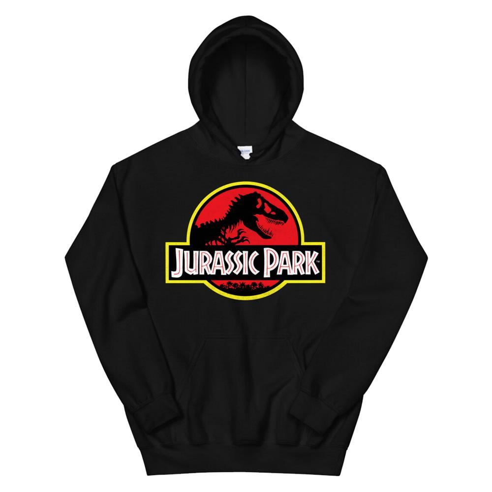 Jurassic Park Distressed Vintage Logo Hoodie