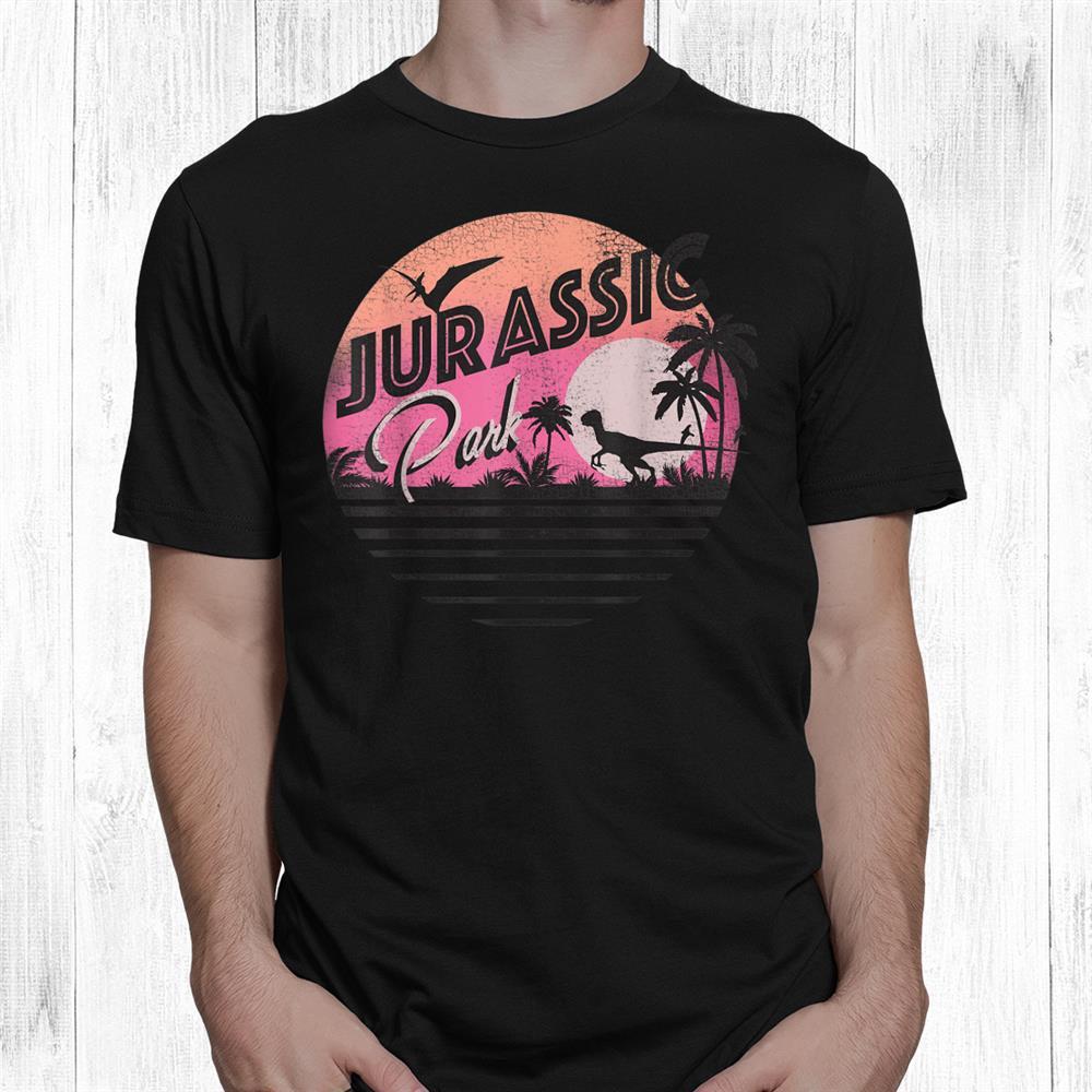 Jurassic Park Retro 90s Dinosaur Scene Shirt