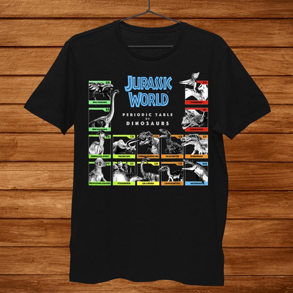 Jurassic World Periodic Table Of Dinosaurs Shirt