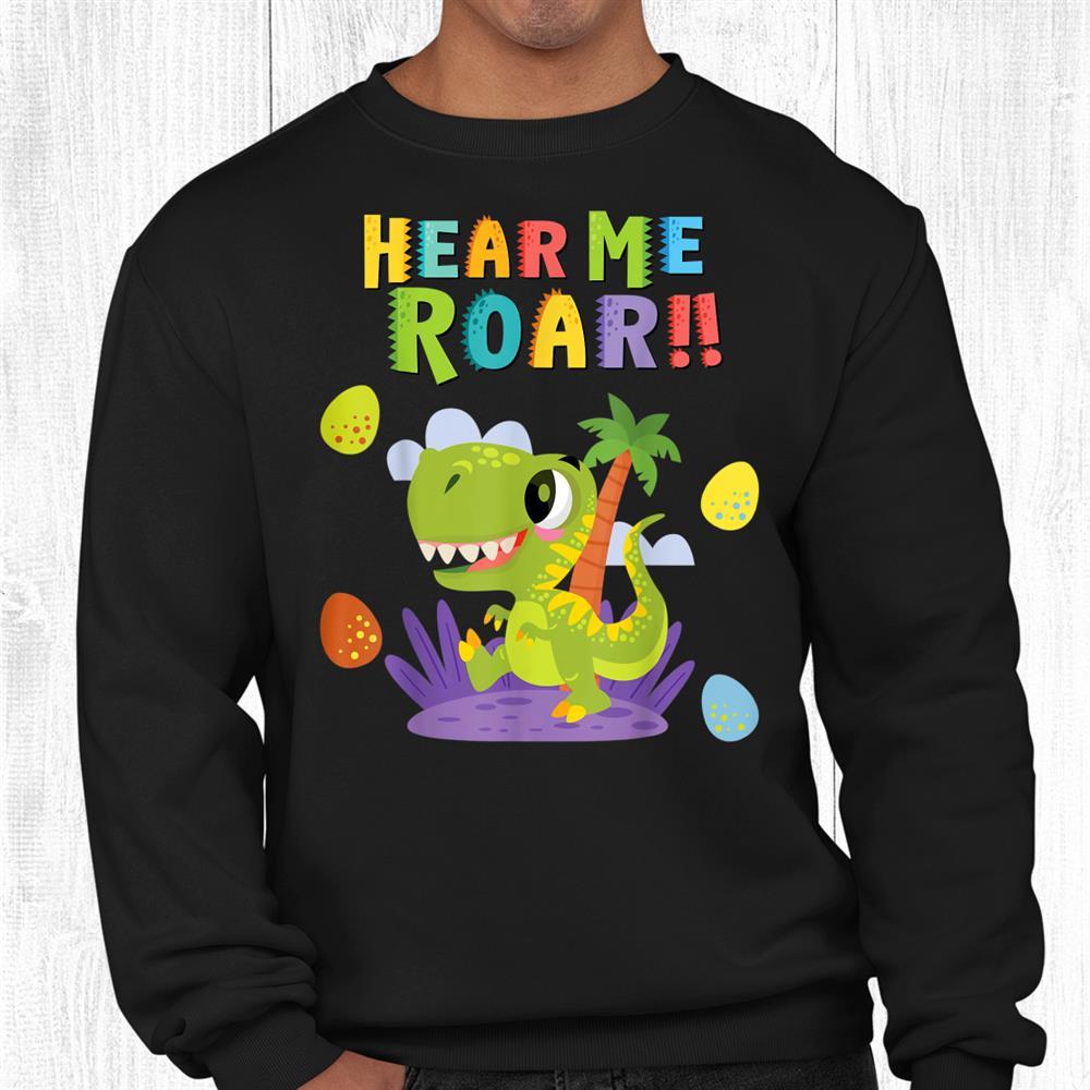 Kawaii Dinosaur Hear Me Roar Teacher Back To School Shirt