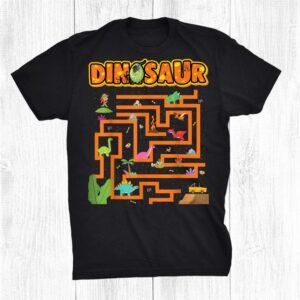 Kawaii Girls Walk Dinosaur Maze Teachers Boys Back To School Shirt