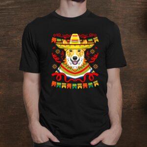 Kawaii Sombrero Corgi Funny Cinco De Mayo Premium Shirt