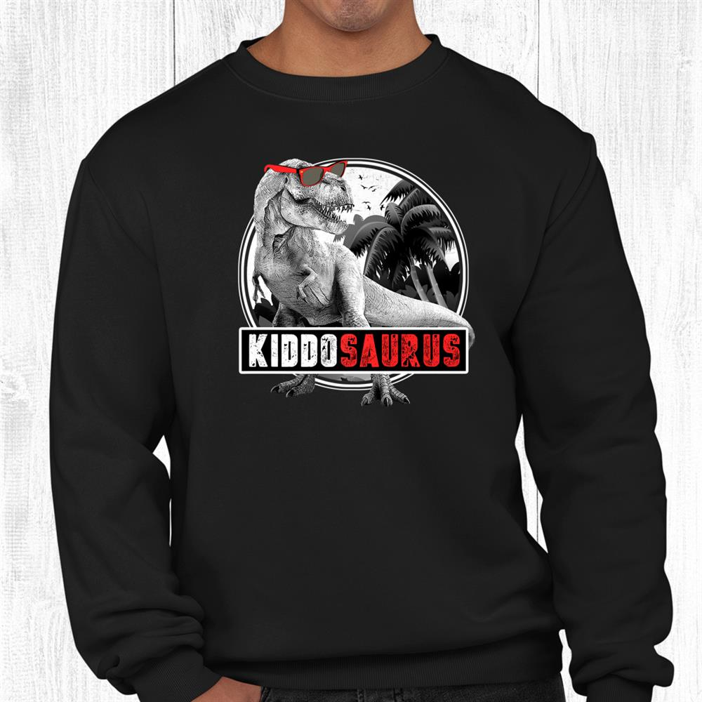 Kiddo Saurus Dinosaur Boy Kiddosaurus T Rex Kid Dino Shirt