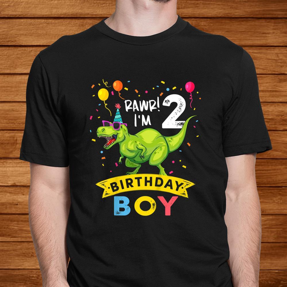 Kids Year Old Shirtnd Birthday Boy T Rex Dinosaur Shirt