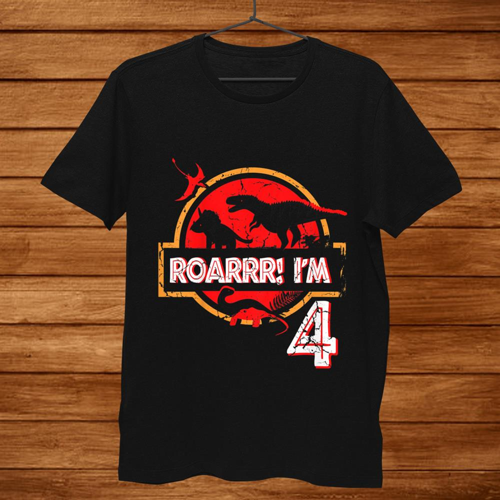 Kidsth Birthday Gifts Year Old Boys Girls Roar I'm Dinosaur Shirt