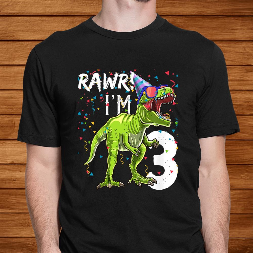 Kids Rawr Imrd Birthday T Rex Dinosaur Party Gift For Boys Shirt